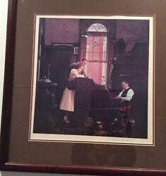 Norman Rockwell Marriage License Original Offset Lithograph Hand-signed Curtis