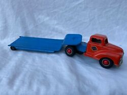 Gama Truck Lkw With Trailer Wind-up Tin Toy Truck Rare