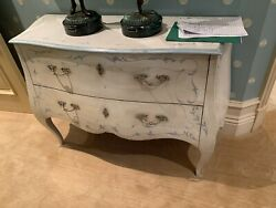 Beautiful Antique White Bombay Chest