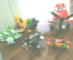 Lot Of 5 Toy Airplanes Includes Dusty 7 Disney Pixar Works