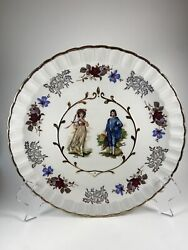 """Wood And Sons Avon Pinkie And The Blue Boy 10"""" Ironstone Cabinet Plate 8"""