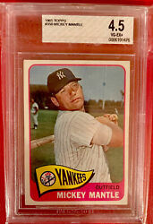 1965 Topps Mickey Mantle 350 Bvg 4.5 Centered