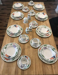 Euc Villeroy And Boch Amapola Complete 8 5-piece China Place Setting Cream Sugar