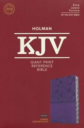 Kjv Giant Print Reference Bible, Purple Leathertouch, Indexed By C. S. B. Bibles