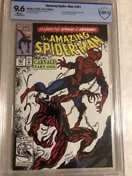 Amazing Spider-man 361 Cbcs 9.6 Carnage Cletus Cassidy Not Cgc Never Pressed