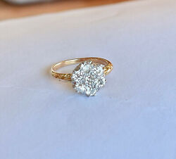 Stunning Antique Diamond Flower Cluster Ring Circa Early 20th Century Val 9,890