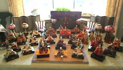 Antique Japanese Hina Doll Set 27 Dolls Plus Much More