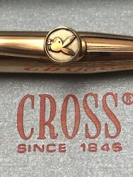 Vintage 75and039 Cross 1/20 14kt Filled And Chrome Accent Playboy Mechanical Pencil New