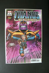 Thanos Legacy 1 Ace Variant - Signed Ron Lim - Jim Starlin - Donny Cates