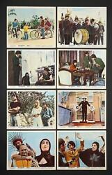 The Beatles Help 1965 Original Set Of Eight Uk Foh Lobby Cads 8 X 10.