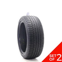 Set Of 2 Used 235/45r18 Dunlop Conquest Sport A/s 94v - 7.5-8/32