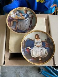 Norman Rockwell Plates By Edwin M Knowles China Company Lot Of 7