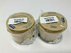Lot Of 2 Racor 2010tm-or Filter Element10 Micron Replaces Volvo 861014 828897