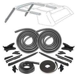 1990-1993 Ford Mustang Convertible 21 Piece Weatherstrip Kit Free Shipping Us 48
