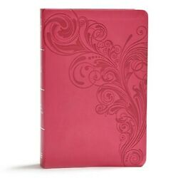 Kjv Giant Print Reference Bible, Pink Leathertouch, Indexed By C. S. B. Bibles B