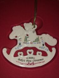 2020 Lenox China Baby's First 1st Christmas Tree Holiday Ornament Rocking Horse