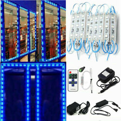 Blue 10and039ft100and039ft Smd 5050 3 Led Module Store Front Window Light Sign Lamp Kit