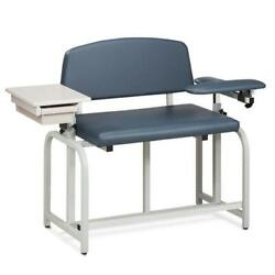 Clinton Lab X Series Extra-wide And Extra-tall Blood Chair With Padded Flip Arm