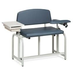 Clinton Lab X Series Bariatric Blood Drawing Chair With Padded Flip Arm And Draw