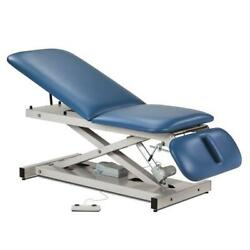 Clinton Open Base Power Table With Adjustable Backrest And Drop Section