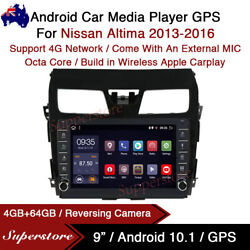 """9"""" Android 10.1 Car Stereo Non-dvd Gps Radio Head Unit For Nissan Altima 13-16"""