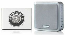 Honeywell 200m Wireless Doorbell Kit With Visitor Chrome On Contemporary White P