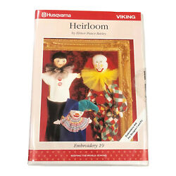 Husqvarna Viking Faces Embroidery Designs Floppy Card 19 For Embroidery Machine