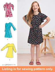 Sewing Pattern - Sew Girls Dress Clothing Clothes - Plus Size Tween Teen 8567