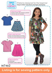 Sewing Pattern - Sew Girl Clothes Clothing Easy Learn To Sew Plus Size Teen 7462