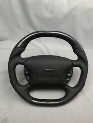 Ford Mustang Steering Wheel Carbon Fiber Leather