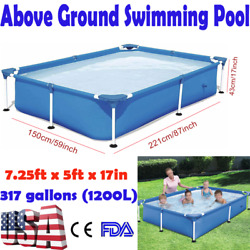 New Bestway 7.25ftx5ftx17in 1200l Rectangular Summer Above Ground Swimming Pool