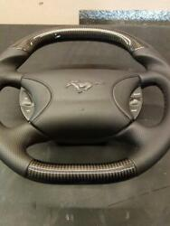 Ford Mustang 1999-2005 Steering Wheel Carbon Fiber Leather