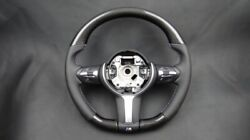 Bmw F30 F15 No Paddle Shifts Steering Wheel Carbon Fiber Leather
