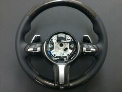 Bmw F30 F31 F32 F35 F15 X5 F16 X6 F20 Steering Wheel Carbon Fiber Leather