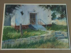 New Mexico Painting Of Holman Abandoned Church 1960s Original Art By Susan Koch