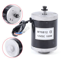 100w 150w 24/12v Dc Brush Electric Motor With Sprocket My6812 Scooter Kids New