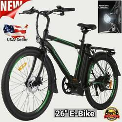 26 Electric Cruiser Bike Mountain Bicycle Removable 10ah Battery W Back