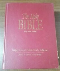The Holy Bible King James Version Super Giant Print Study Edition Hardcover