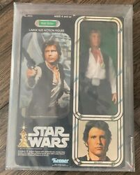Vintage Star Wars Afa 80 - Han Solo Large Size 12 Inch Action Figure Rare
