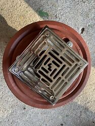 Wade Floor Drain Body W/ Flange Cast Iron W-1000-2nh / 1003-pc With Wade Grille