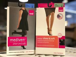 Mediven Sheer And Soft Calf High 15-20 20-30 Open And Closed Toe Sizes Colors Medi