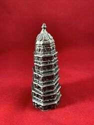 The Tiger Hill Pagoda Leaning Tower Of China Metal Souvenir Building