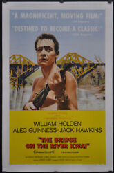 Bridge On The River Kwai 1958 27x41 Linenbacked B Movie Poster William Holden