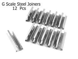 G Scale Model Train Stainless Steel Track Rail Joiners 12 Pieces