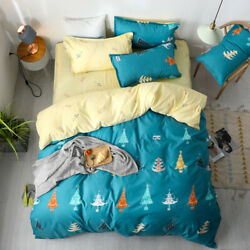 2020christmas Bedding Set Green Flower Quilt Cover Cover Winter Bed Set 3 / 4pcs