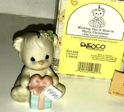 Precious Moments Wishing You A Bear-ie Merry Christmas Ornament 1996 531200