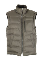 New Tom Ford Taupe Quilted Shell Down Gilet Vest Size 48 / 38r U.s. Outerwear...