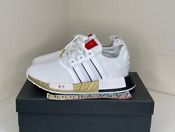 Adidas Nmd R1 Tokyo White Gold Red Kids Youth Junior Sizes Fy6628
