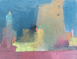 William Wray Bill Wray Original Abstract Landscape Oil Painting