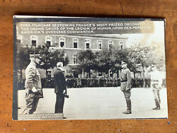 Military World War 1 Rppc General Pershing And French Pres. Poincare Ca 1918